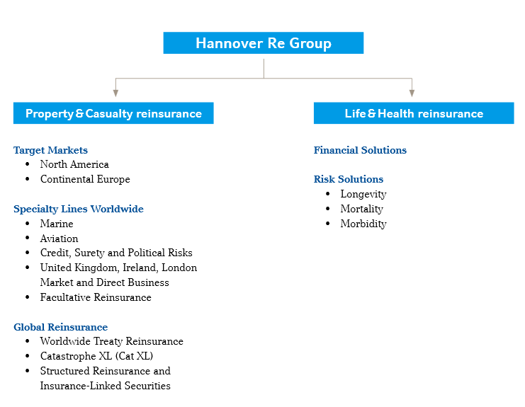 Strategic business groups of Hannover Re Group